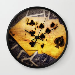 Dead Man's Hand Wall Clock