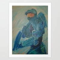 master chief Art Prints featuring Master Chief by s block