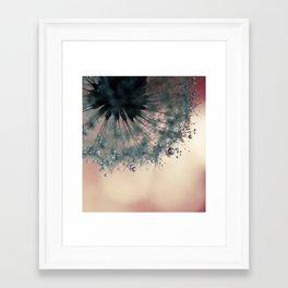 dandelion rose pink Framed Art Print