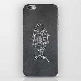 Tuna Butcher Diagram (Seafood Meat Chart) iPhone Skin