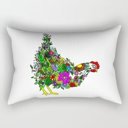 Flower Chicken Rectangular Pillow