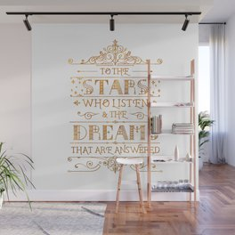 To the Stars - White Wall Mural