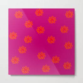 Some Crazy Happy Flowers Patternish Metal Print