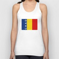 chad wys Tank Tops featuring chad country flag name text by tony tudor