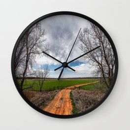 Take Me Home - Old Country Road in Oklahoma Wall Clock