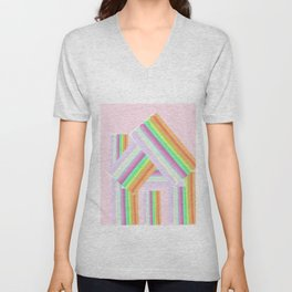 Striped House Unisex V-Neck