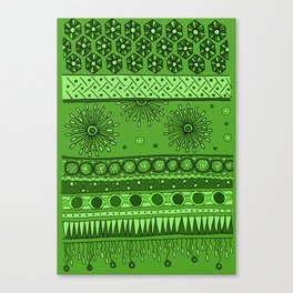Yzor pattern 007 green Canvas Print