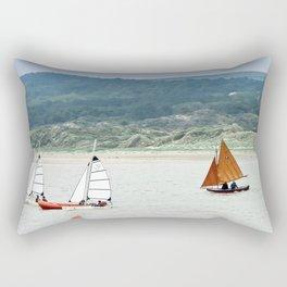 Sur la Canche, les voiles Rectangular Pillow