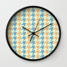 40s Houndstooth Wall Clock