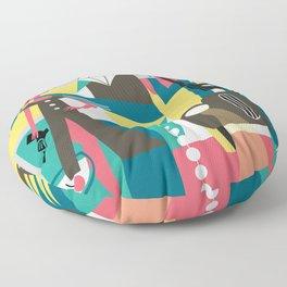 bonny and clyde grey Floor Pillow