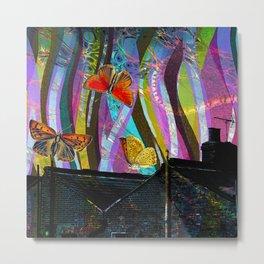 Butterfly Rooftops - Dream Series 005 Metal Print
