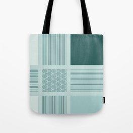 Tiled Mint Green Pattern Design Tote Bag