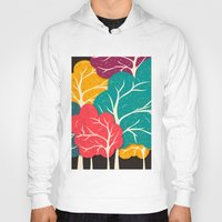jazzberry Hoodies featuring Happy Forest by Danny Ivan