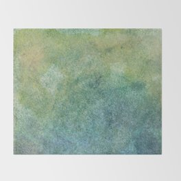 Pastel Abstract Watercolor Painting Throw Blanket