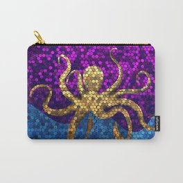Gold Octopus collage Carry-All Pouch