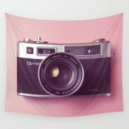 #04_Yashica electro 35#pink#film#effect Wall Tapestry
