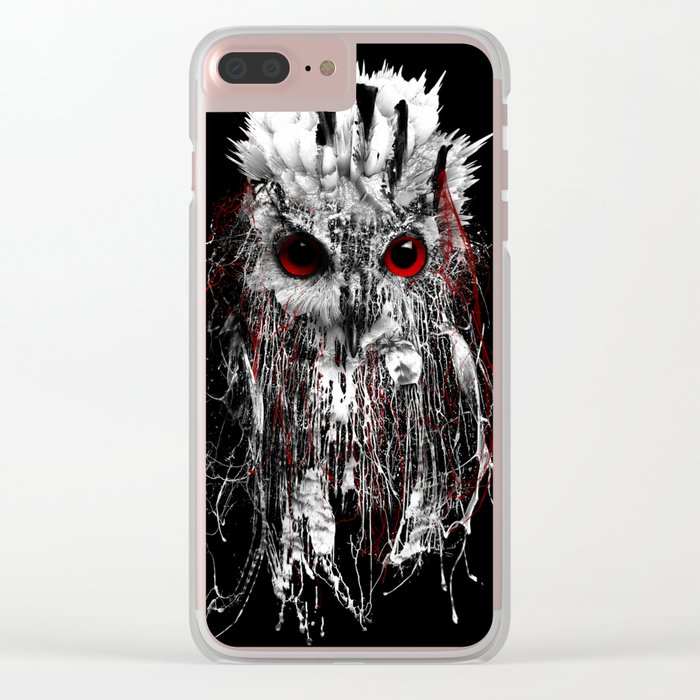 OWL - RED EYE Clear iPhone Case