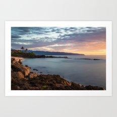 Sea Long exposure Art Print