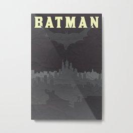 Justice Poster - Bat Metal Print
