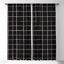 BASIC   Criss Cross Black Blackout Curtain