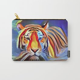 Bengal Tiger Crossing the Lake Carry-All Pouch