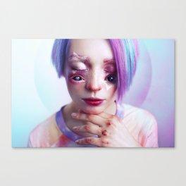 Starry Eyed Girl Canvas Print