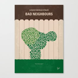 No840 My Bad Neighbours minimal movie poster Canvas Print
