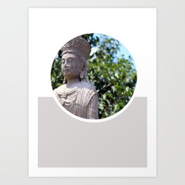 Frank Lloyd Wright's Statue Art Print