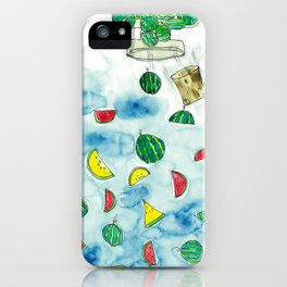 Why Watermelon Drop from Bottle? iPhone Case