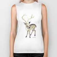 bambi Biker Tanks featuring Bambi by Emilie Steele