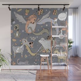 modern farmhouse style accessories, stuff you need! Wall Mural