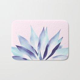 Solar Agave - Pastel blue on pink Bath Mat