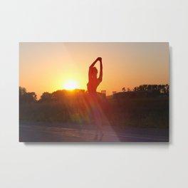 nude yoga Metal Print