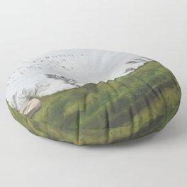 In a Bucket Floor Pillow
