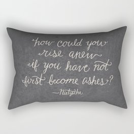 Nietzsche on Rising Anew Rectangular Pillow