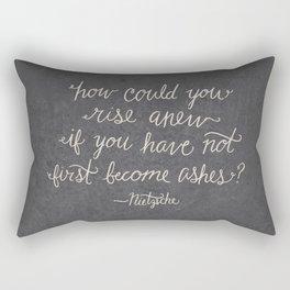 Nietzsche on Rising Anew Rectangular Pillow