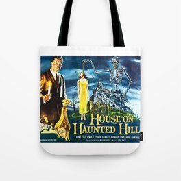 House on Haunted Hill, vintage horror movie poster Tote Bag