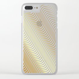 Whiskers Gold #634 Clear iPhone Case