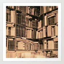 Bookstore Rom Art Print
