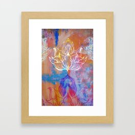 Bindu Alligning Framed Art Print