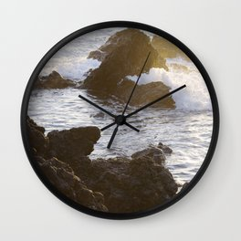 Ocean & Lava Rocks Wall Clock