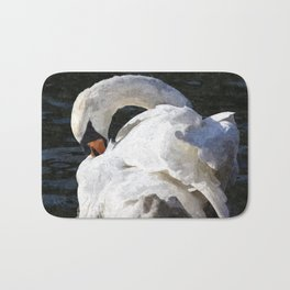 The Peaceful Swan Art Bath Mat