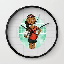 Volleyball Girl Wall Clock