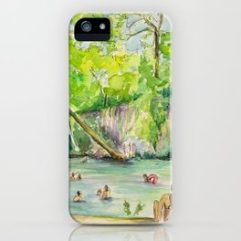 Krause Springs - historic Texas natural springs swimming hole iPhone Case