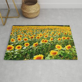 Field of Sunny Flowers Rug