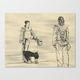 Inspection at the US Open Canvas Print