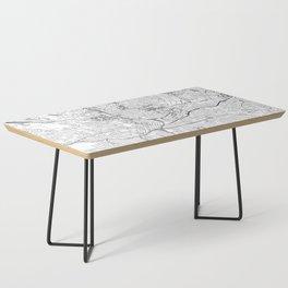 Atlanta White Map Coffee Table