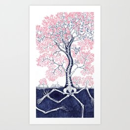 Skeleton Tree Art Print