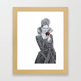 Apple red as blood Framed Art Print