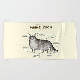 Anatomy of a Maine Coon Beach Towel